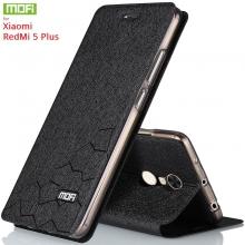 Чехол-книжка MOFI для смартфона Xiaomi RedMi 5 Plus, противоударный чехол, горизонтальный флип, силиконовая накладка, флип из искусственной кожи, металлическая пластина внутри флипа, возможность трансформации чехла в подставку для просмотра видео, чёрный, синий, золотой, розовый, Киев