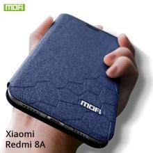 Чехол-книжка MOFI для смартфона Xiaomi Redmi 8A, противоударный чехол, горизонтальный флип, силиконовая накладка, флип из искусственной кожи, металлическая пластина внутри флипа, возможность трансформации чехла в подставку для просмотра видео, чёрный, синий, золотой, розовый, красный, Киев