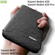Чехол-книжка MOFI для смартфона Xiaomi Redmi K20 / Xiaomi Redmi K20 Pro / Xiaomi Mi9T / Xiaomi Mi9T Pro, противоударный чехол, горизонтальный флип, силиконовая накладка, флип из искусственной кожи, металлическая пластина внутри флипа, возможность трансформации чехла в подставку для просмотра видео, чёрный, синий, золотой, розовый, красный, Киев