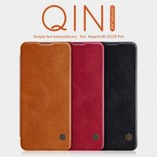 Чехол-книжка Nillkin (серия Qin) для смартфона Xiaomi Mi10 / Xiaomi Mi10 Pro, смарт-чехол, чехол-книжка, противоударный чехол, горизонтальный флип, пластик, искусственная кожа, PU, чёрный, коричневый, красный, Киев