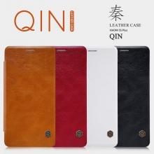 Чехол-книжка Nillkin (серия Qin) для смартфона Xiaomi Mi5S Plus, смарт-чехол, чехол-книжка, горизонтальный флип, пластик, искусственная кожа, PU, белый, чёрный, коричневый, красный, Киев