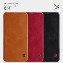 Чехол-книжка Nillkin (серия Qin) для смартфона Xiaomi Mi8, смарт-чехол, чехол-книжка, противоударный чехол, горизонтальный флип, пластик, искусственная кожа, PU, чёрный, коричневый, красный, Киев