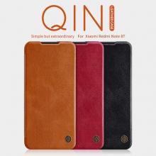 Чехол-книжка Nillkin (серия Qin) для смартфона Xiaomi Redmi Note 8T, чехол-книжка, противоударный чехол, горизонтальный флип, пластик, искусственная кожа, PU, чёрный, коричневый, красный, Киев