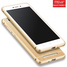 Чехол MSVII с металлической рамкой для смартфона Xiaomi RedMi 3, бампер, алюминий, поликарбонат, чёрный, серебряный, золотой, розовое золото, Киев