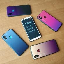 Чехол-накладка Amzboon для смартфона Xiaomi Mi6X / Xiaomi Mi A2, защитный чехол, противоударный чехол, термополиуретан, поликарбонат, закалённое стекло, градиентная окраска (цвета плавно переходят из одного в другой), монохромная окраска, накладки на кнопки регулировки громкости и включения / выключения, двойное отверстие для крепления ремешка, чёрный, красный, голубой, розовый, чёрный + фиолетовый, голубой + фиолетовый, красный + фиолетовый, розовый + фиолетовый, жёлтый + зелёный, Киев