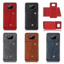 Чехол-накладка (бумажник + крепление к магниту) для Xiaomi Poco X3, противоударный бампер, пластик, термополиуретан, искусственная кожа, отделение для четырёх платёжных карт / визиток, возможность трансформации чехла в подставку для просмотра видео, двойное отверстие для крепления ремешка, металлический элемент для крепления к автомобильным магнитным держателям, чёрный, серый, синий, коричневый, красный, Киев