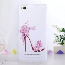 Чехол-накладка для смартфона Xiaomi Mi4c / Mi4i (с кристаллами), противоударный бампер, прозрачный пластик, рисунок туфелька, стразы, кристаллы, Киев
