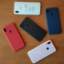 Чехол-накладка для смартфона Xiaomi Redmi Note 7 / Redmi Note 7 Pro, противоударный бампер, термополиуретан TPU, эластичность, устойчивость к растяжению, устойчивость к царапинам, накладки на кнопки регулировки громкости и включения / выключения, двойное отверстие для крепления ремешка, чёрный, синий, красный, розовый, белый (полупрозрачный), Киев