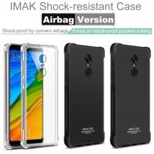 Чехол-накладка iMak (Airbag Version) + плёнка для смартфона Xiaomi RedMi 5 Plus, прозрачный термополиуретан, чёрный гладкий термополиуретан, чёрный шероховатый термополиуретан, логотип «iMak», накладки на кнопки регулировки громкости и включения / выключения, дополнительная защита углов смартфона «воздушными подушками», защитная плёнка повышенной прочности, Киев