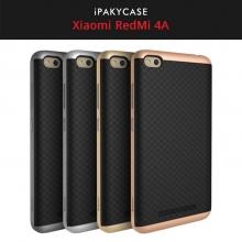 Чехол-накладка iPaky для смартфона Xiaomi RedMi 4A, противоударный бампер, термополиуретан, резина, пластик, чёрный, тёмно-серый, серебяный, золотой, розовое золото, Киев