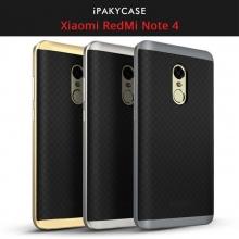 Чехол-накладка iPaky для смартфона Xiaomi RedMi Note 4, бампер, противоударный, резина, пластик, термополиуретан, чёрный, тёмно-серый, серебяный, золотой, розовое золото, Киев