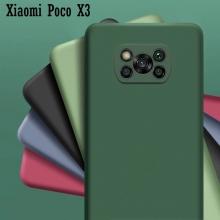 Чехол-накладка Liquid Silicone для смартфона Xiaomi Poco X3, противоударный бампер, термополиуретан с мягкой подкладкой, эластичность в сочетании с устойчивостью к растяжению, устойчивость к царапинам, накладки на кнопки регулировки громкости и включения / выключения, двойное отверстие для крепления ремешка, чёрный, синий, серый, сиреневый, красный, зелёный, жёлтый, персиковый, розовый, Киев