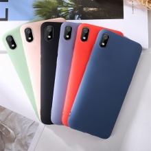 Чехол-накладка Liquid Silicone для смартфона Xiaomi Redmi 7A, противоударный бампер, термополиуретан с мягкой подкладкой, эластичность в сочетании с устойчивостью к растяжению, устойчивость к царапинам, накладки на кнопки регулировки громкости и включения / выключения, двойное отверстие для крепления ремешка, чёрный, синий, серый, сиреневый, красный, зелёный, жёлтый, персиковый, Киев