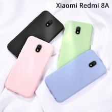 Чехол-накладка Liquid Silicone для смартфона Xiaomi Redmi 8A, противоударный бампер, термополиуретан с мягкой подкладкой, эластичность в сочетании с устойчивостью к растяжению, устойчивость к царапинам, накладки на кнопки регулировки громкости и включения / выключения, двойное отверстие для крепления ремешка, чёрный, серый, сиреневый, красный, зелёный, персиковый, Киев