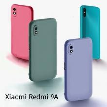 Чехол-накладка Liquid Silicone для смартфона Xiaomi Redmi 9A, противоударный бампер, термополиуретан с мягкой подкладкой, эластичность в сочетании с устойчивостью к растяжению, устойчивость к царапинам, накладки на кнопки регулировки громкости и включения / выключения, двойное отверстие для крепления ремешка, чёрный, синий, серый, сиреневый, красный, зелёный, жёлтый, персиковый, Киев