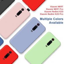 Чехол-накладка Liquid Silicone для смартфона Xiaomi Redmi K20 / Xiaomi Redmi K20 Pro / Xiaomi Mi9T / Xiaomi Mi9T Pro, противоударный бампер, термополиуретан с мягкой подкладкой, эластичность в сочетании с устойчивостью к растяжению, устойчивость к царапинам, накладки на кнопки регулировки громкости и включения / выключения, двойное отверстие для крепления ремешка, чёрный, синий, серый, сиреневый, красный, зелёный, жёлтый, персиковый, Киев