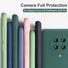 Чехол-накладка Liquid Silicone для смартфона Xiaomi Redmi K30 Pro / Xiaomi Poco F2 Pro, противоударный бампер, термополиуретан с мягкой подкладкой, флок, эластичность в сочетании с устойчивостью к растяжению, устойчивость к царапинам, накладки на кнопки регулировки громкости и включения / выключения, двойное отверстие для крепления ремешка, чёрный, синий, серый, сиреневый, красный, зелёный, жёлтый, розовый, персиковый, Киев