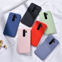 Чехол-накладка Liquid Silicone для смартфона Xiaomi Redmi Note 8 Pro, противоударный бампер, термополиуретан с мягкой подкладкой, эластичность в сочетании с устойчивостью к растяжению, устойчивость к царапинам, накладки на кнопки регулировки громкости и включения / выключения, двойное отверстие для крепления ремешка, чёрный, синий, серый, сиреневый, красный, зелёный, жёлтый, персиковый, Киев