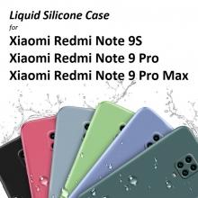 Чехол-накладка Liquid Silicone для смартфона Xiaomi Redmi Note 9 Pro / Xiaomi Redmi Note 9 Pro Max / Xiaomi Redmi Note 9S, противоударный бампер, термополиуретан с мягкой подкладкой, флок, эластичность в сочетании с устойчивостью к растяжению, устойчивость к царапинам, накладки на кнопки регулировки громкости и включения / выключения, двойное отверстие для крепления ремешка, чёрный, синий, серый, сиреневый, красный, зелёный, жёлтый, розовый, персиковый, Киев