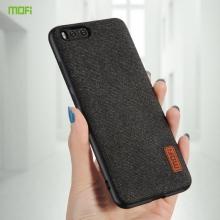 Чехол-накладка MOFI для смартфона Xiaomi Mi6, термополиуретан, TPU, поликарбонат с тканевым покрытием, в заднюю стенку встроена металлическая пластина, не влияющая на качество приёма сигнала, которая крепится к автомобильным магнитным держателям без дополнительных приспособлений, логотип MOFI, чёрный, серый, коричневый, Киев