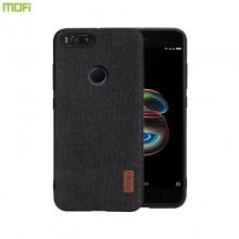 Чехол-накладка MOFI (Fabric) для смартфона Xiaomi Mi5X / Xiaomi Mi A1, термополиуретан, TPU, поликарбонат с тканевым покрытием, в заднюю стенку встроена металлическая пластина, не влияющая на качество приёма сигнала, которая крепится к автомобильным магнитным держателям без дополнительных приспособлений, логотип MOFI, чёрный, серый, коричневый, Киев