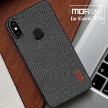 Чехол-накладка MOFI (Fabric) для смартфона Xiaomi Mi6X / Xiaomi Mi A2, термополиуретан, TPU, поликарбонат с тканевым покрытием, в заднюю стенку встроена металлическая пластина, не влияющая на качество приёма сигнала, которая крепится к автомобильным магнитным держателям без дополнительных приспособлений, логотип MOFI, чёрный, серый, коричневый, Киев