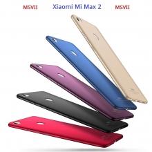 Чехол-накладка MSVII для смартфона Xiaomi Mi Max 2, противоударный тонкий бампер, шероховатый пластик, гладкий пластик, чёрный, синий, красный, золотой, фиолетовый, Киев