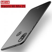 Чехол-накладка MSVII для смартфона Xiaomi Mi Mix 2S, противоударный бампер, матовый пластик, гладкий пластик, чёрный, синий, красный, фиолетовый, Киев