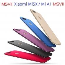 Чехол-накладка MSVII для смартфона Xiaomi Mi5X / Xiaomi Mi A1, противоударный тонкий бампер, шероховатый пластик, гладкий пластик, чёрный, синий, красный, золотой, фиолетовый, Киев