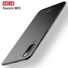 Чехол-накладка MSVII для смартфона Xiaomi Mi9, противоударный тонкий бампер, шероховатый пластик, гладкий пластик, чёрный, синий, Киев