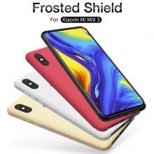Чехол-накладка Nillkin Frosted Shield для смартфона Xiaomi Mi Mix 3, противоударный бампер, рифлёный пластик, чёрный, белый, золотой, красный, подставка для просмотра видео, Киев