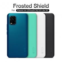 Чехол-накладка Nillkin Super Frosted Shield для смартфона Xiaomi Mi10 Youth Edition 5G / Xiaomi Mi10 Lite 5G, противоударный бампер, рифлёный пластик, чёрный, белый, золотой, красный, сапфирово-синий (Sapphire Blue), сине-зелёный (Peacock Blue), подставка для просмотра видео, Киев