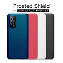 Чехол-накладка Nillkin Super Frosted Shield для смартфона  Xiaomi Mi10T / Xiaomi Mi10T Pro / Xiaomi Redmi K30S, противоударный бампер, рифлёный пластик, чёрный, белый, золотой, красный, сапфирово-синий (Sapphire Blue), сине-зелёный (Peacock Blue), подставка для просмотра видео, Киев