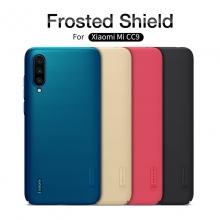 Чехол-накладка Nillkin Frosted Shield для смартфона Xiaomi Mi9 Lite / Xiaomi Mi CC9, противоударный бампер, рифлёный пластик, чёрный, белый, золотой, красный, подставка для просмотра видео, Киев