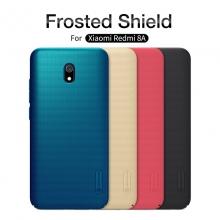 Чехол-накладка Nillkin Frosted Shield для смартфона Xiaomi Redmi 8A, противоударный бампер, рифлёный пластик, чёрный, белый, золотой, красный, сине-зелёный (Peacock Blue), мятный (Mint Green), подставка для просмотра видео, Киев