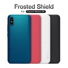 Чехол-накладка Nillkin Super Frosted Shield для смартфона Xiaomi Redmi 9A, противоударный бампер, рифлёный пластик, чёрный, белый, золотой, красный, сапфирово-синий (Sapphire Blue), сине-зелёный (Peacock Blue), мятный (Mint Green), подставка для просмотра видео, Киев