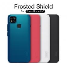 Чехол-накладка Nillkin Super Frosted Shield для смартфона Xiaomi Redmi 9C, противоударный бампер, рифлёный пластик, чёрный, белый, золотой, красный, сапфирово-синий (Sapphire Blue), сине-зелёный (Peacock Blue), мятный (Mint Green), подставка для просмотра видео, Киев