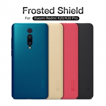 Чехол-накладка Nillkin Frosted Shield для смартфона Xiaomi Redmi K20 / Xiaomi Redmi K20 Pro / Xiaomi Mi9T / Xiaomi Mi9T Pro, противоударный бампер, рифлёный пластик, чёрный, белый, золотой, красный, синий, сине-зелёный (Peacock Blue), подставка для просмотра видео, Киев