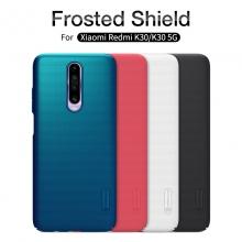 Чехол-накладка Nillkin Super Frosted Shield для смартфона Xiaomi Redmi K30, противоударный бампер, рифлёный пластик, чёрный, белый, золотой, красный, сапфирово-синий (Sapphire Blue), сине-зелёный (Peacock Blue), подставка для просмотра видео, Киев