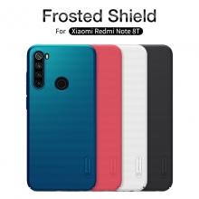 Чехол-накладка Nillkin Super Frosted Shield для смартфона Xiaomi Redmi Note 8T, противоударный бампер, рифлёный пластик, чёрный, белый, золотой, красный, сапфирово-синий (Sapphire Blue), сине-зелёный (Peacock Blue), подставка для просмотра видео, Киев