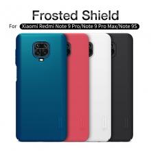 Чехол-накладка Nillkin Super Frosted Shield для смартфона Xiaomi Redmi Note 9 Pro / Xiaomi Redmi Note 9 Pro Max / Xiaomi Redmi Note 9S, противоударный бампер, рифлёный пластик, чёрный, белый, золотой, красный, сапфирово-синий (Sapphire Blue), сине-зелёный (Peacock Blue), подставка для просмотра видео, Киев