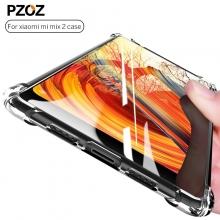 Чехол-накладка PZOZ (Airbag Version) для смартфона Xiaomi Mi Mix 2, противоударный бампер, термополиуретан, дополнительная защита углов смартфона «воздушными подушками», накладки на кнопки регулировки громкости и включения / выключения, прозрачный, прозрачный с чёрным оттенком, прозрачный с красным оттенком, Киев