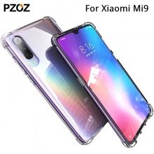 Чехол-накладка PZOZ (Airbag Version) для смартфона Xiaomi Mi9, термополиуретан, дополнительная защита углов смартфона «воздушными подушками», накладки на кнопки регулировки громкости и включения / выключения, двойное отверстие для крепления ремешка, прозрачный, прозрачный с чёрным оттенком, прозрачный с красным оттенком, Киев