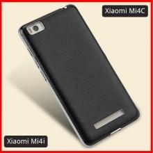 Чехол-накладка Qoowa для смартфона Xiaomi Mi4c / Xiaomi Mi4i, искусственная кожа, хромированная рамка, чёрный, белый, красный, золотой, фиолетовый, Киев
