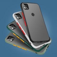 Чехол-накладка с контрастными кнопками для Xiaomi Redmi 9C, противоударный бампер, задняя панель из полупрозрачного поликарбоната + рама из термополиуретана, накладка на кнопки регулировки громкости, двойное отверстие для крепления ремешка, чёрный, серый, синий, тёмно-зелёный, светло-зелёный, розовый, Киев