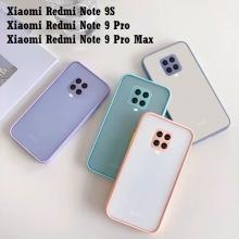Чехол-накладка с контрастными кнопками для Xiaomi Redmi Note 9 Pro / Xiaomi Redmi Note 9 Pro Max / Xiaomi Redmi Note 9S, противоударный бампер, задняя панель из полупрозрачного поликарбоната + рама из термополиуретана, накладка на кнопки регулировки громкости, двойное отверстие для крепления ремешка, чёрный, серый, синий, тёмно-зелёный, светло-зелёный, красный, розовый, Киев