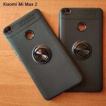 Чехол-накладка с магнитным кольцом для смартфона Xiaomi Mi Max 2, термополиуретан (TPU), накладки на кнопки регулировки громкости и включения / выключения, несъёмное кольцо для пальца, которое также можно использовать как подставку при просмотре видео, угол поворота кольца 360 градусов, угол наклона кольца 150 градусов, металлический сердечник крепится к автомобильным магнитным держателям, чёрный, синий, красный, розовый, Киев