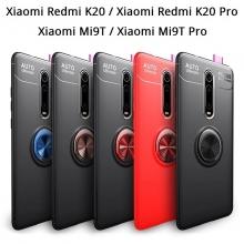 Чехол-накладка с магнитным кольцом для смартфона Xiaomi Redmi K20 / Xiaomi Redmi K20 Pro / Xiaomi Mi9T / Xiaomi Mi9T Pro, противоударный чехол, термополиуретан (TPU), накладки на кнопки регулировки громкости и включения / выключения, несъёмное кольцо для пальца, которое также можно использовать как подставку при просмотре видео, угол поворота кольца 360 градусов, угол наклона кольца 150 градусов, металлический сердечник крепится к автомобильным магнитным держателям, чёрный, синий, красный, розовый, Киев