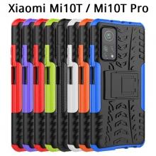 Чехол-накладка с подставкой для смартфона Xiaomi Mi10T / Xiaomi Mi10T Pro / Xiaomi Redmi K30S, бронированный противоударный бампер, поликарбонат + термополиуретан, сочетание жёсткости с гибкостью, в чехол встроена подставка для просмотра видео, чёрный + чёрный, чёрный + красный, чёрный + оранжевый, чёрный +розовый, чёрный + синий, чёрный + фиолетовый, чёрный + зелёный, чёрный + белый, Киев