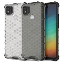 Чехол-накладка с рисунком в виде сот для смартфона Xiaomi Redmi 9C, противоударный бампер, задняя панель из поликарбоната, рама из термополиуретана, сочетание жёсткости с гибкостью, дополнительная защита углов смартфона «воздушными подушками», накладка на кнопки регулировки громкости, чёрный + прозрачный, чёрный + серый, чёрный + красный, чёрный + синий, чёрный + зелёный, Киев